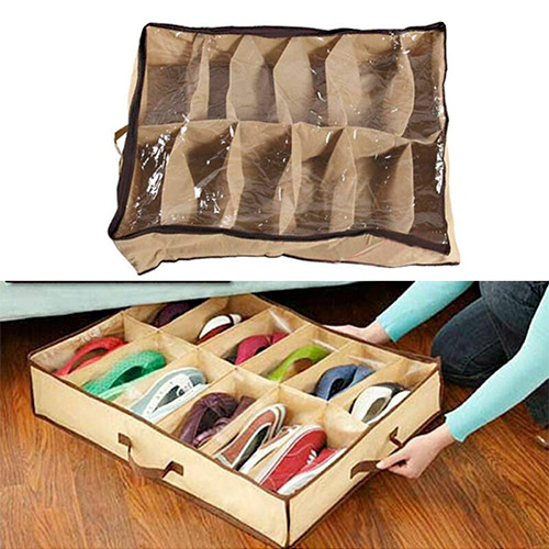 Under Bed Storage  Bag Box For Shoes