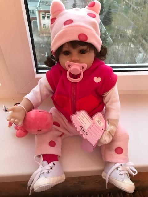 NPK Babies Reborn Doll 48cm Silicone Reborn Baby doll adorable Lifelike toddler Girl dolls surprise doll with hands open