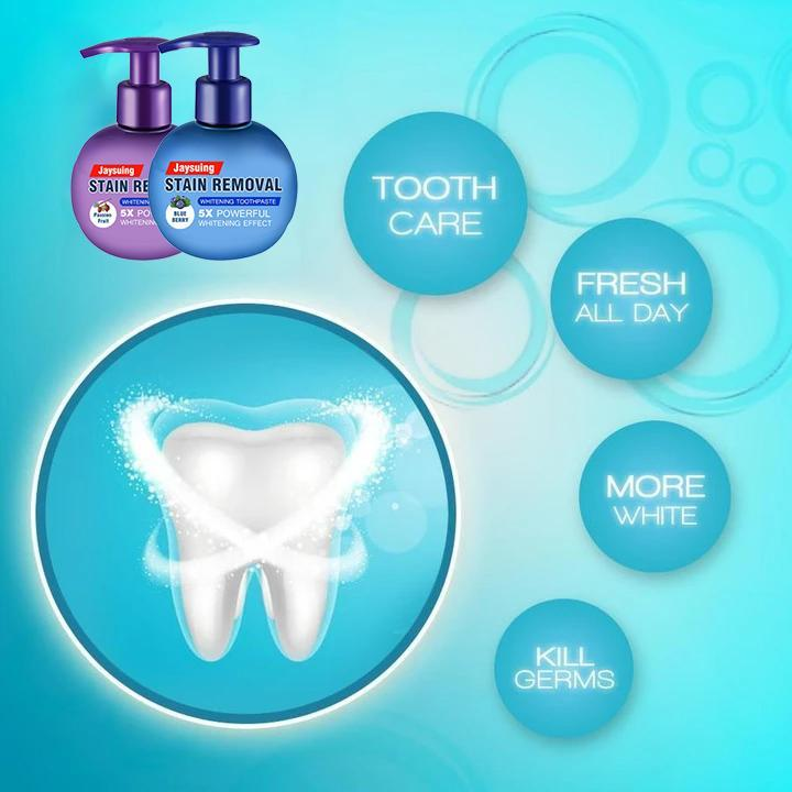 【Early Halloween Sale- Save 50% OFF】Intensive Stain Removal Whitening Toothpaste