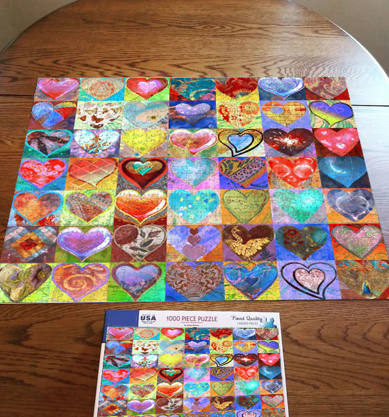 Colorful Heart 500/1000PCS Jigsaw Puzzles(Buy 2 Free Shipping)