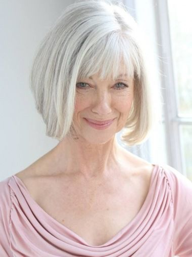 2020 Best Lace Front Wigs Grey Hair At 15 Light Red Brown Hair Grey Bob Wig With Bangs 1B Color Wig