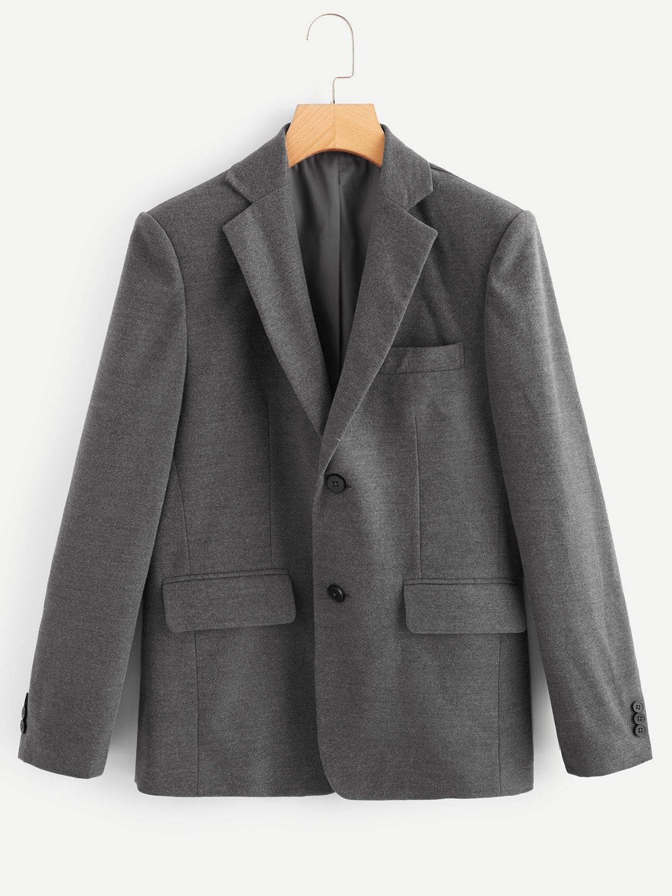 Men Single Breasted Blazer