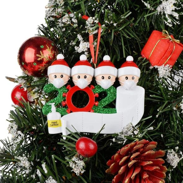 2020 Christmas Party Decoration DIY Name Blessing Pendant