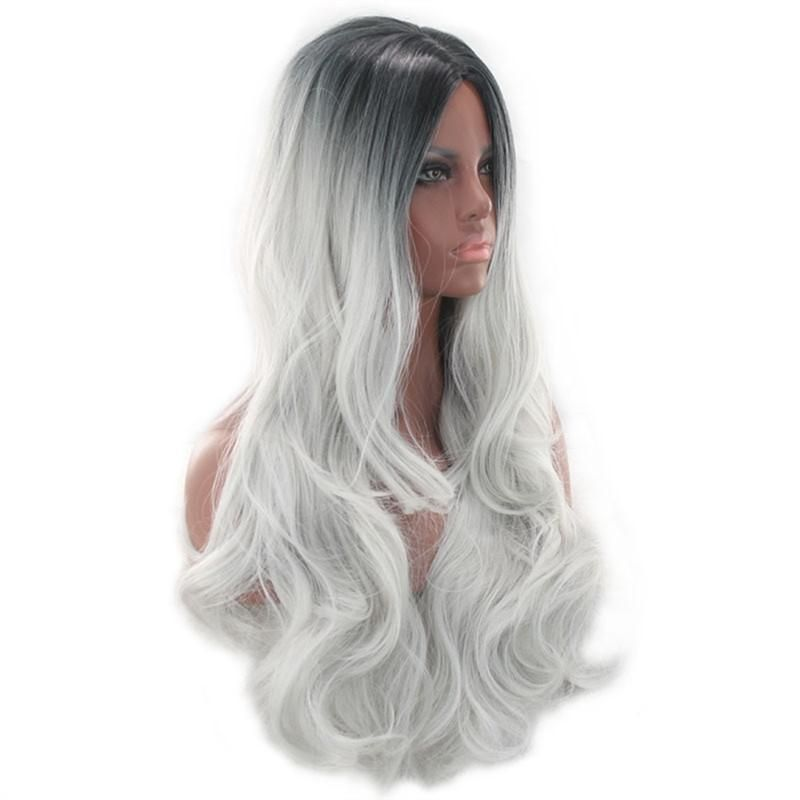 2020 New Gray Hair Wigs For African American Women Lace Frontal Closure Victorian Wig Ash Grey Wig Blonde Lace Wig Best Hair Color To Cover Gray For Brunettes