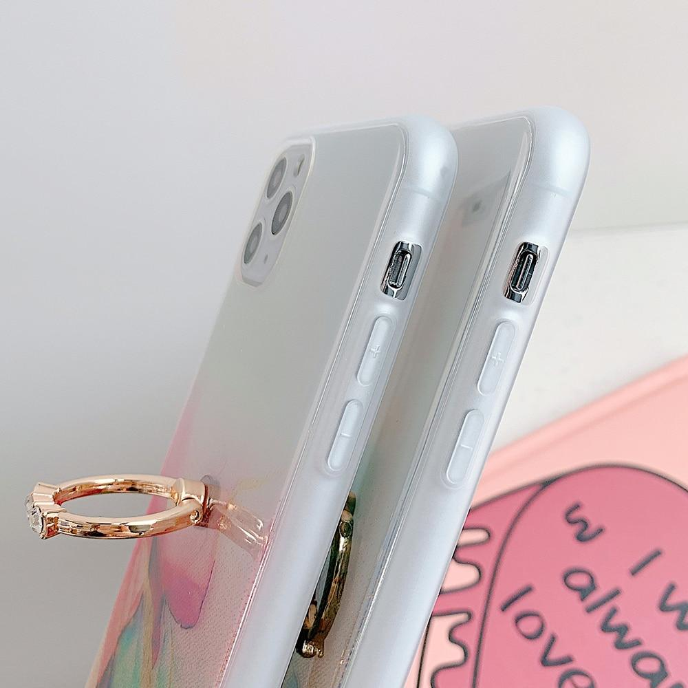 Clear Colorful Case + Ring Holder
