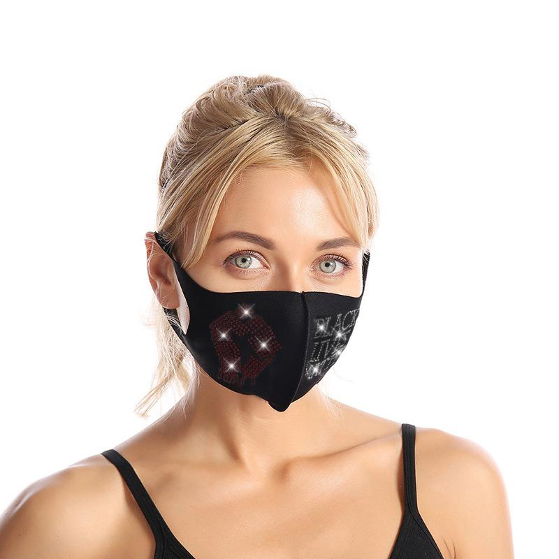 Rhinestone black lives matter face mask