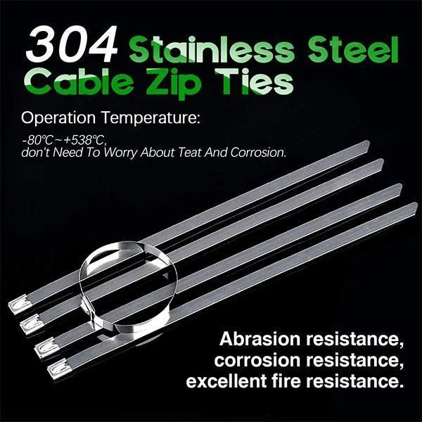 100PCS Multi-Purpose Locking Cable Metal Zip Ties(Buy two Free Shipping)