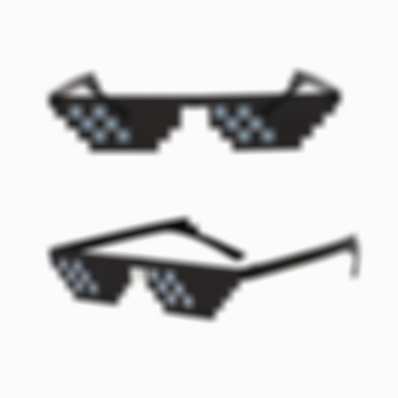8 Bit Pixel Thug Lifestyle Mosaic Glasses for Women/Men