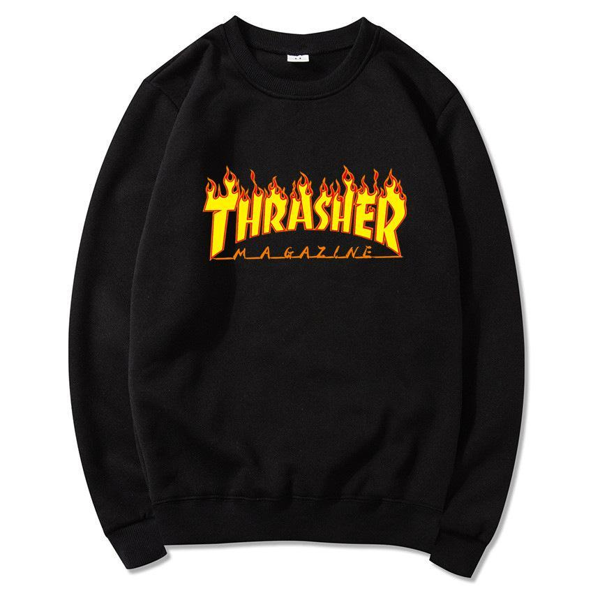 Thrasher Skateboard Printed Hoodie Men's Sweatshirt