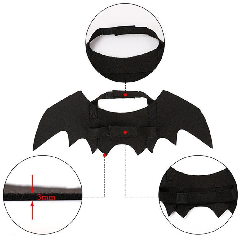 Soft Smooth Black Bat Wings Pet Costume for Cats/Dogs/Puppies