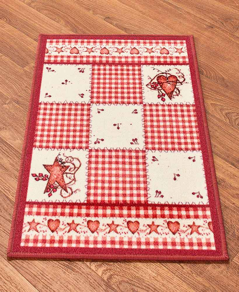Nonskid Hearts and Stars Rug Collection