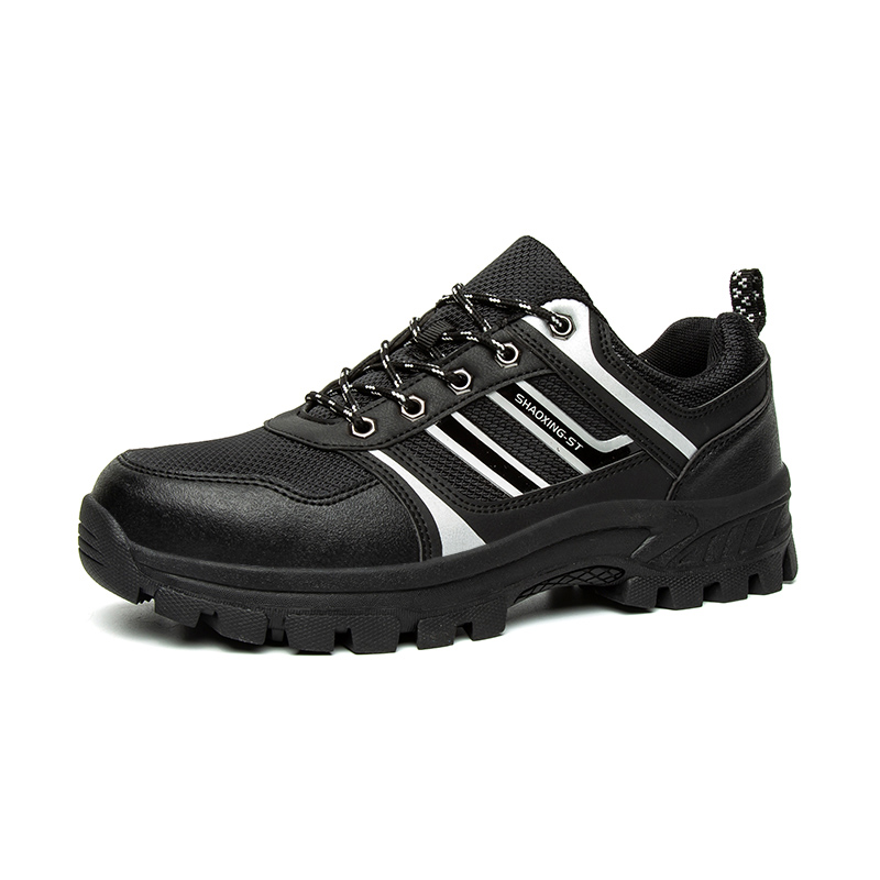 Men Steel Toe Outdoor Safety Work Shoes Lightweight Breathable anti-smashing anti-piercing Non-Slip Protective Footwear