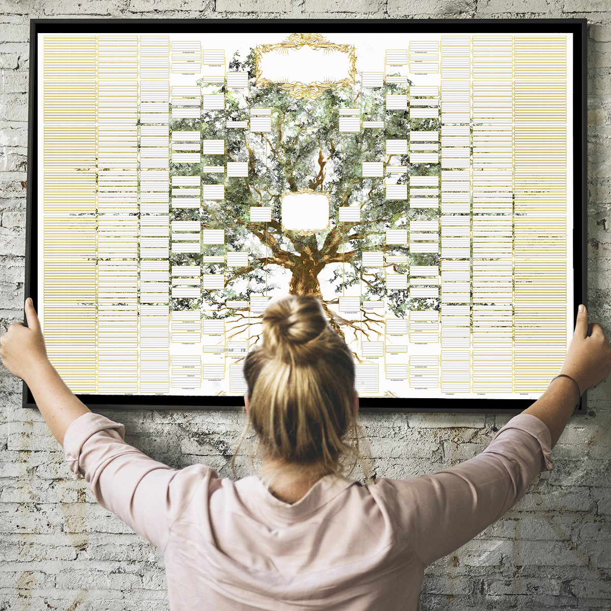 (🔥Super Large Size-Hot Sale🔥)2021 Family Tree Chart - 8 Generations Diy Gift Frameless