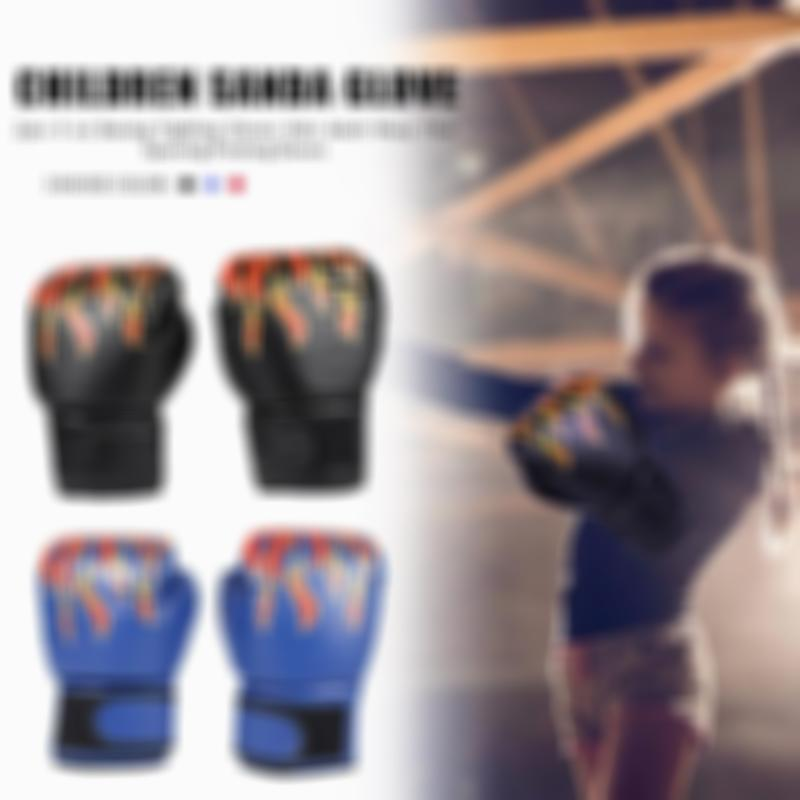 Man and Children Boxing Gloves