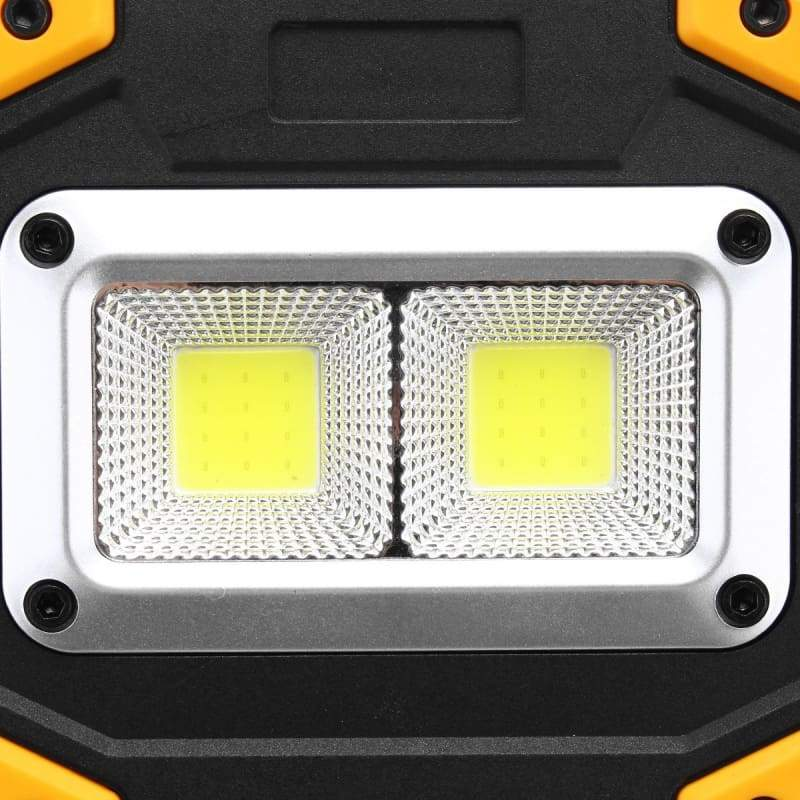 2 COB 120W 3000LM Rechargeable Portable Waterproof LED Flood Lights Work Light for Outdoor Camping Hiking Emergency Car Repairing and Job Site Lighting
