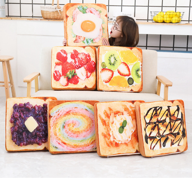 Toasted 3D Bread Pillow Plush