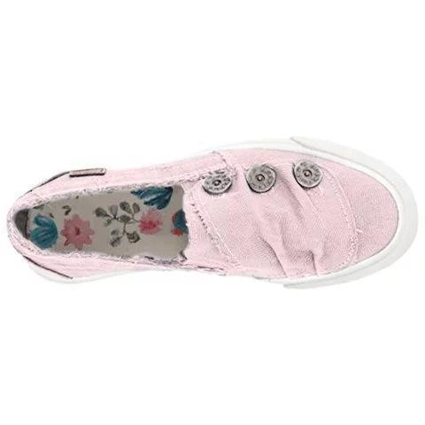 Women Plus Size Round Rivet Slip On Canvas Loafers
