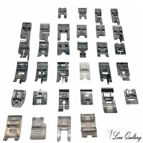Sewing Machine Presser Foot Kit - 32 Pcs with Instruction Manual