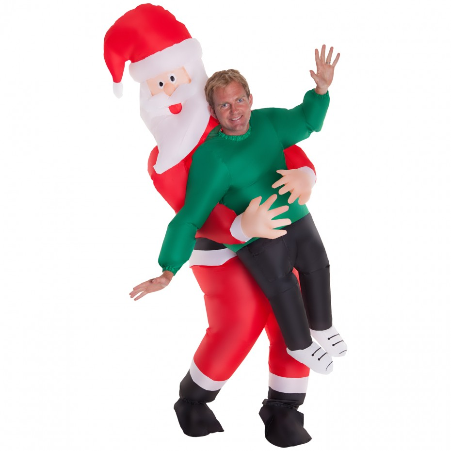 Arosetop Inflatable Santa Claus Costume Whole Body Suit - Cosplay Costume Party For Adults Kids