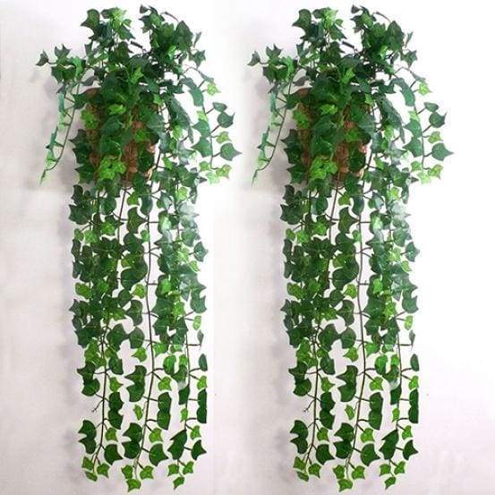 Decorative flowers artificial ivy leaf garland fake foliage home room DIY 1pc rural style ivy vine stage wall decoration