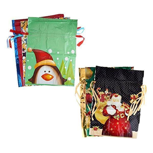 (Early Halloween Sale- Save 50% OFF) Drawstring Christmas Gift Bags(10 Pcs)- Buy 4 Get Free Shipping
