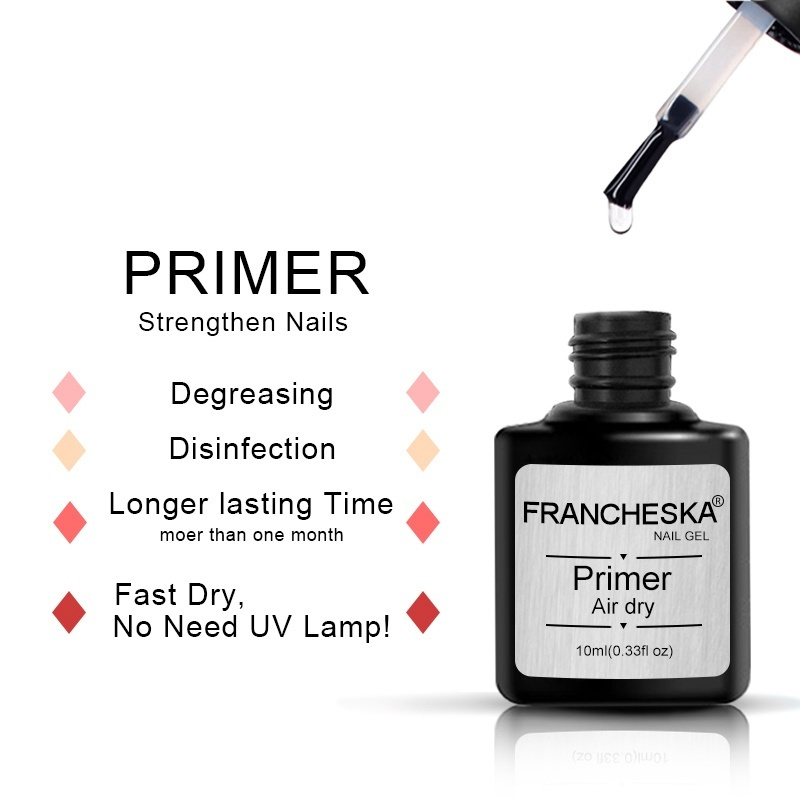 10ml Nail Prep Dehydrator Primer In one for Fast Air Dry Acid Free Disinfection Degreasing