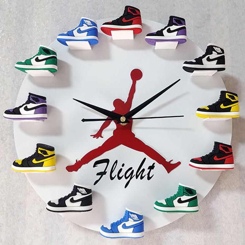 Air Jordan 3D Sneaker Clock With 1-12 Mini Sneakers(Free Shipping Only Today)