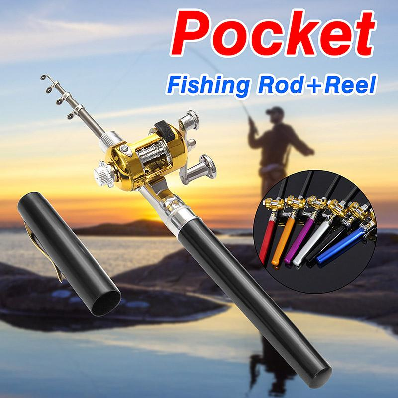 (🔥Father's Day Promotion🔥!!! 60% off) - Portable Mini Fishing Reel & Rod-Free Shipping