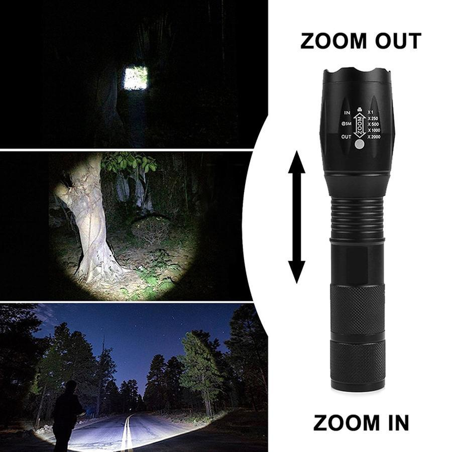 800lm Waterproof Stretchable Tactical Flashlight with 5 Modes