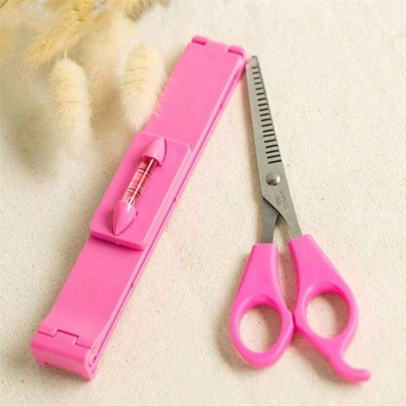 2PCS Women Girl Hair Tools Bang Trimmer Fringe Cut Tool Clipper Comb Guide For Hair Bang Level Ruler Scissor Hair Accessories