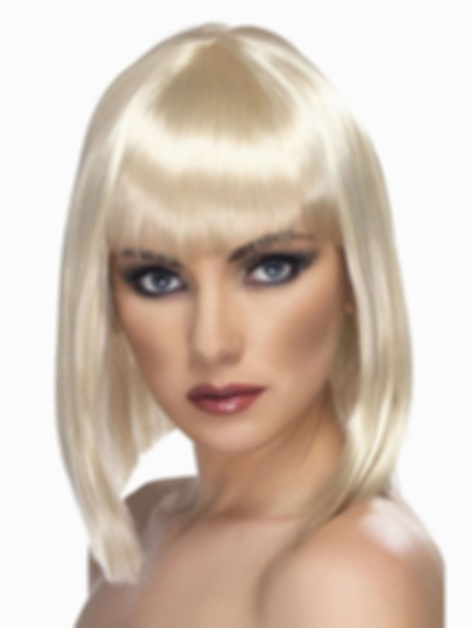 2021 New Lace Front Wigs White Storm Wig Silver Blue Wig Ariana White Hair