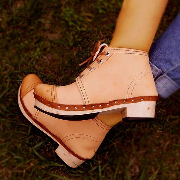 Faddishshoes Traditional Leather Ankle Boots