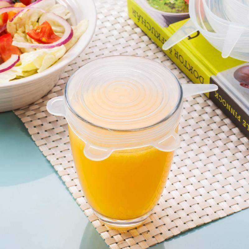 (Hot sale today)-REUSABLE SILICONE FOOD SEALER LID - 6 PCS