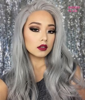 2020 New Gray Hair Wigs For African American Women Reverse Gray Hair Permanently Natural Silver Hair Deep Wave Bob With Closure Wigs For Black Women Near Me Lavender Gray Hair