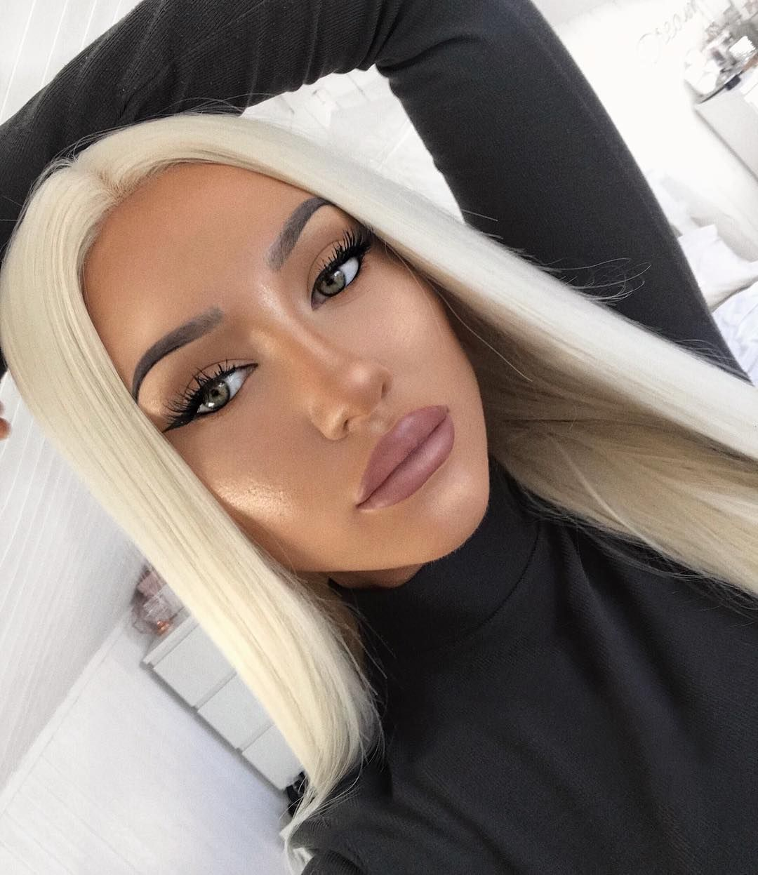 2020 Fashion Ombre Blonde Wigs 30 Inch Human Hair Lace Front Wigs