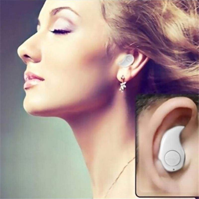 Mini Invisible Ultra Small Bluetooth 4.1 Stereo Earbud Headset with Microphone Support Hands-Free Calling for Smartphones and Perfect for Listening To Music At Work