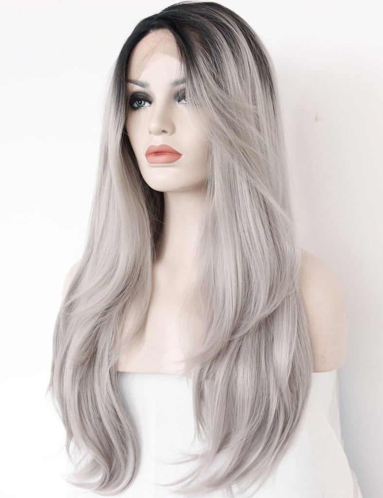 2020 Best Lace Front Wigs Grey Hair Products White Hair At Young Age Gray Blonde Wig Platinum Pink Wig