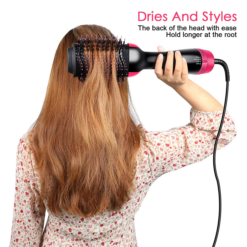 (HOT SALE- 60% OFF!!!)Multifunctional hot air comb two in one negative ion straight curler hair dryer comb