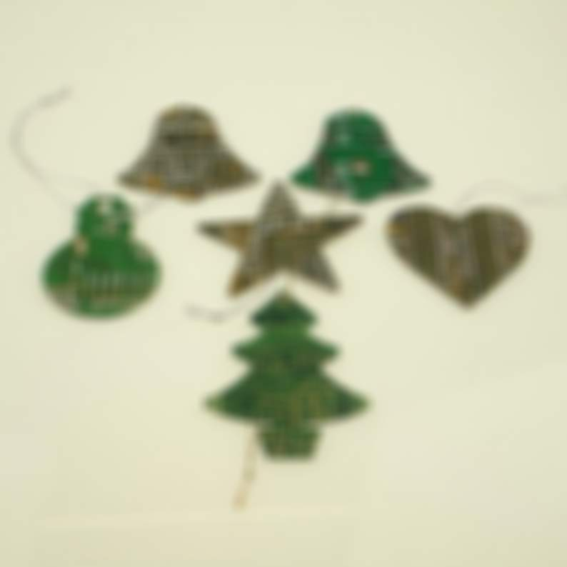 Circuit Board Christmas Tree Decoration Tree/Star/Snowman - Computer Geek Gifts - Tech Accessories - Stocking Fillers - Geeky Secret Santa