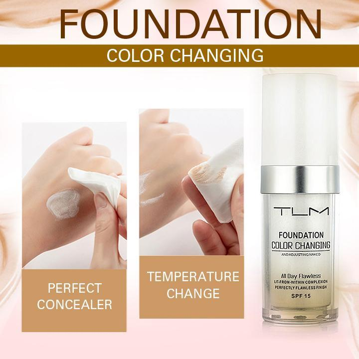[BUY 1 GET 1 FREE]TLM™ All Day Flawless Color Changing Foundation