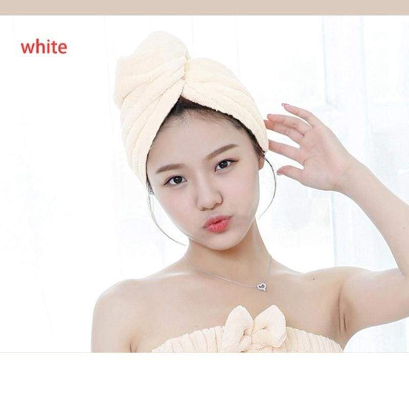 1 Pc  Hair Drying Wrap Towel Shower Absorbent Microfiber Quick Dry Hair Turban Head Wrap Bathing