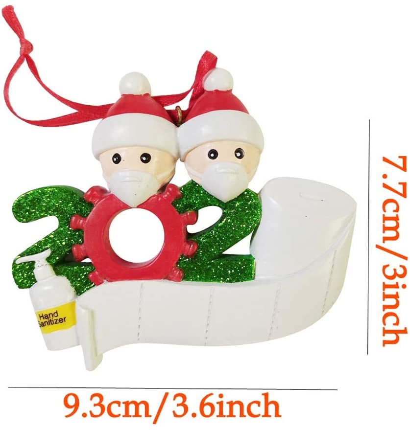 Latest Christmas Ornament of DIY Snowman with Face Mask