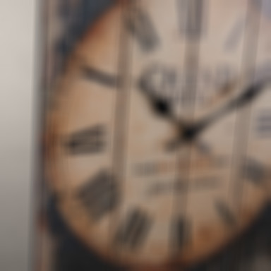 Country Style Brown Wall Clock