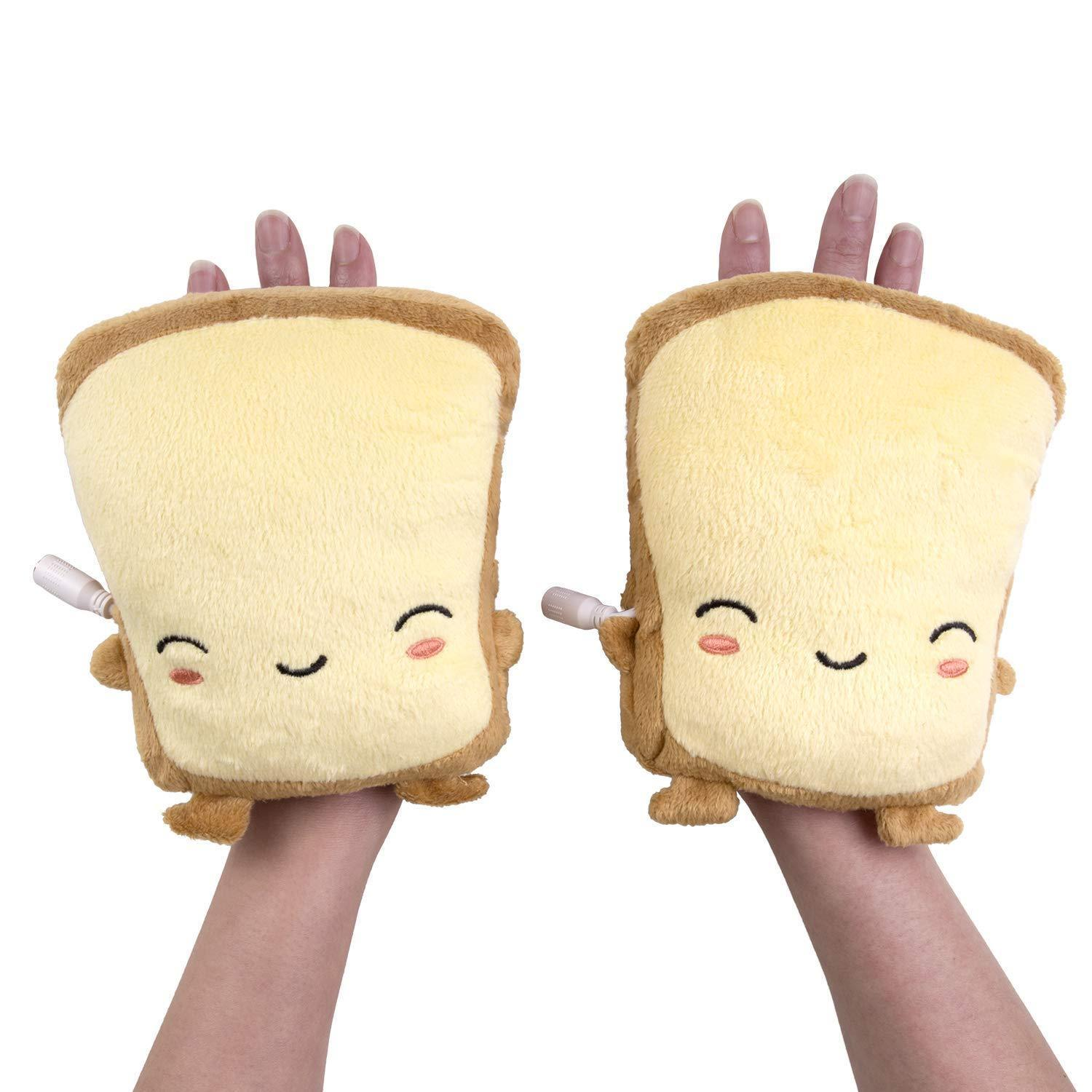Toast Shaped USB Heated Hand Warmers
