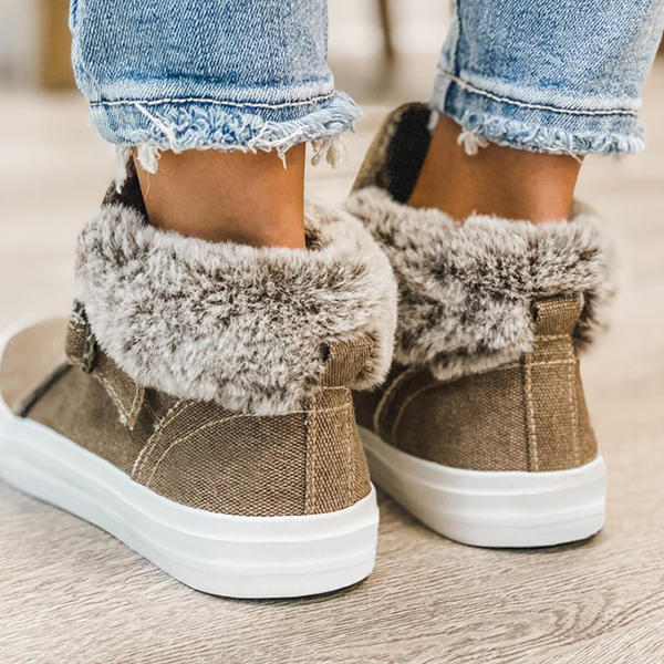 Faddishshoes Brown Buckle High Top Boots