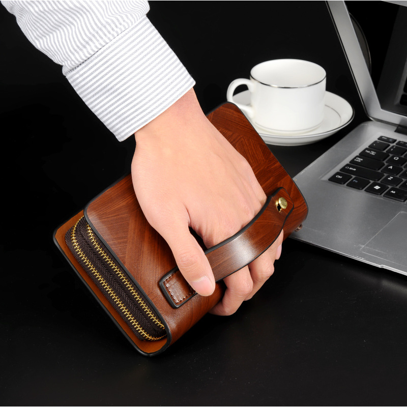 Trendy large-capacity Business men's clutch bag