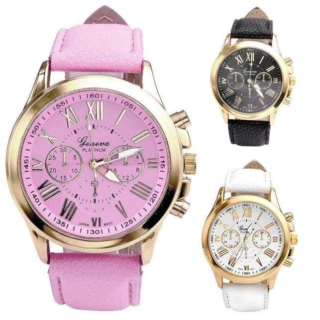 Ladies Women Watch Aztec Tribal Pattern Quartz Sport Wristwatch With PU Leather Strap