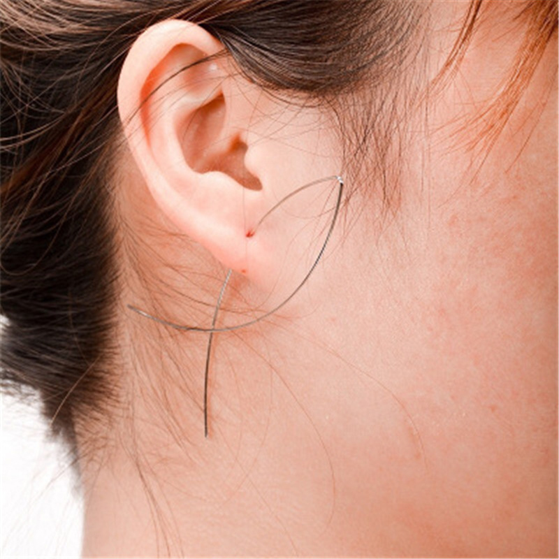 Personalized Simple Fish-Shaped Earrings