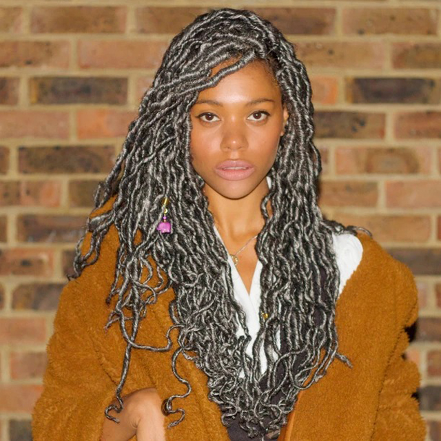 (Hot Sale)100% Hand-Braided Full Lace Ombre Faux Locs Wig