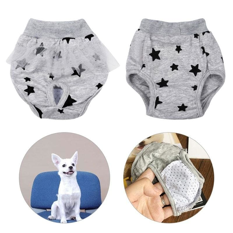 XS-L Dog Sanitary Diaper Physiological Washable Dog Pants Female Short Panties Puppy Underwear  Pet Outfits